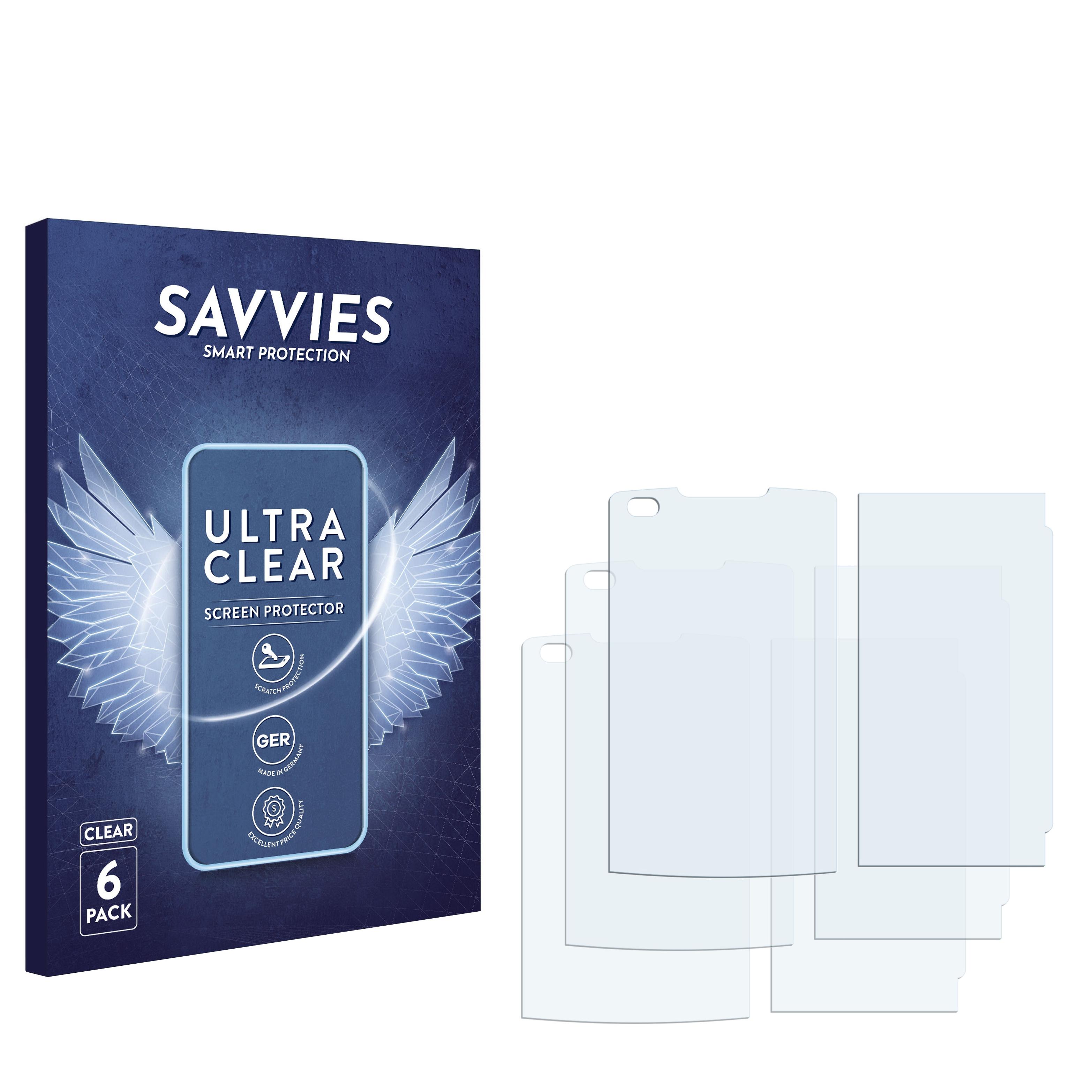 6x Savvies SU75 čirá ochranná fólie pro LG Electronics VX-11000 enV Touch
