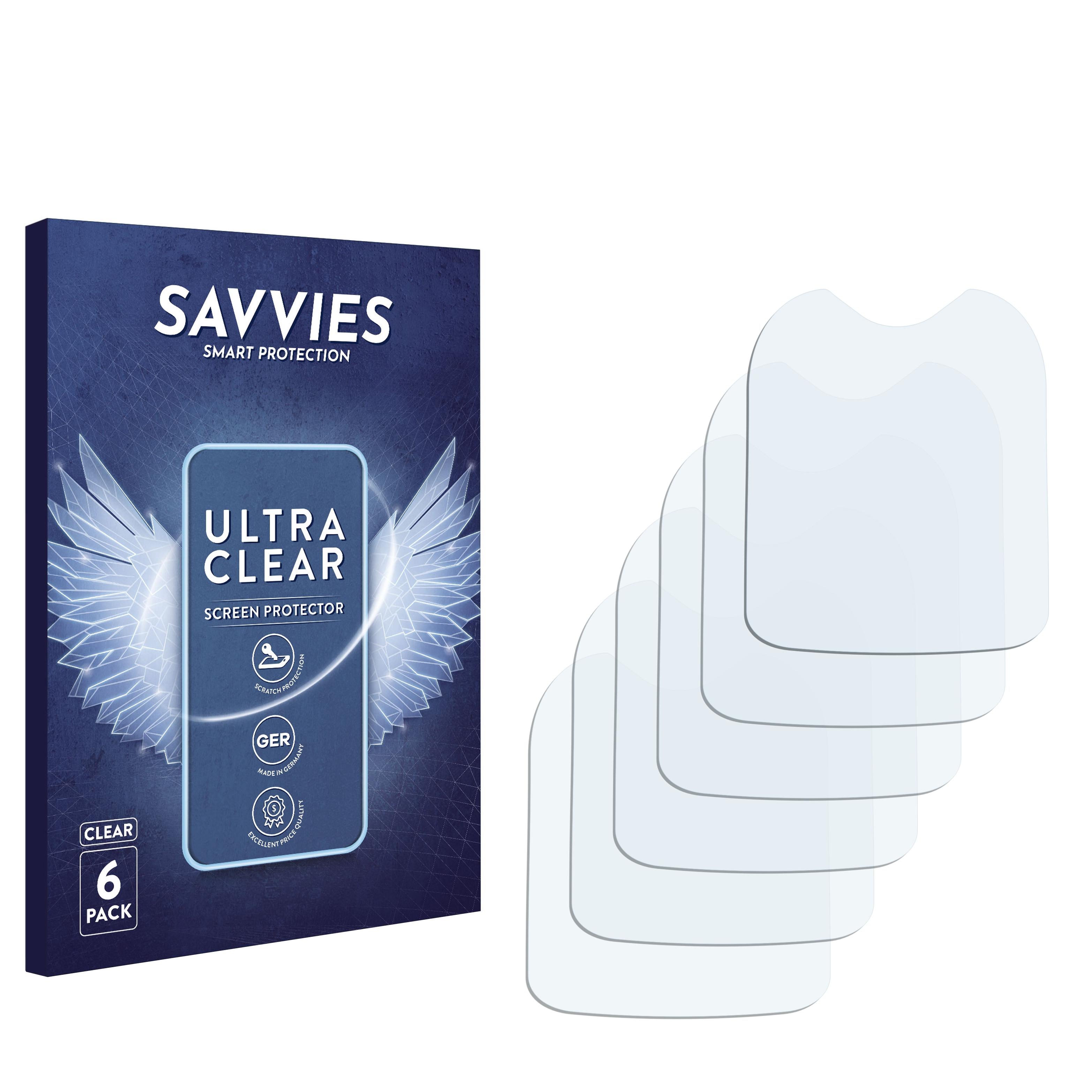 6x Savvies SU75 čirá ochranná fólie pro Alcatel One Touch OT-108