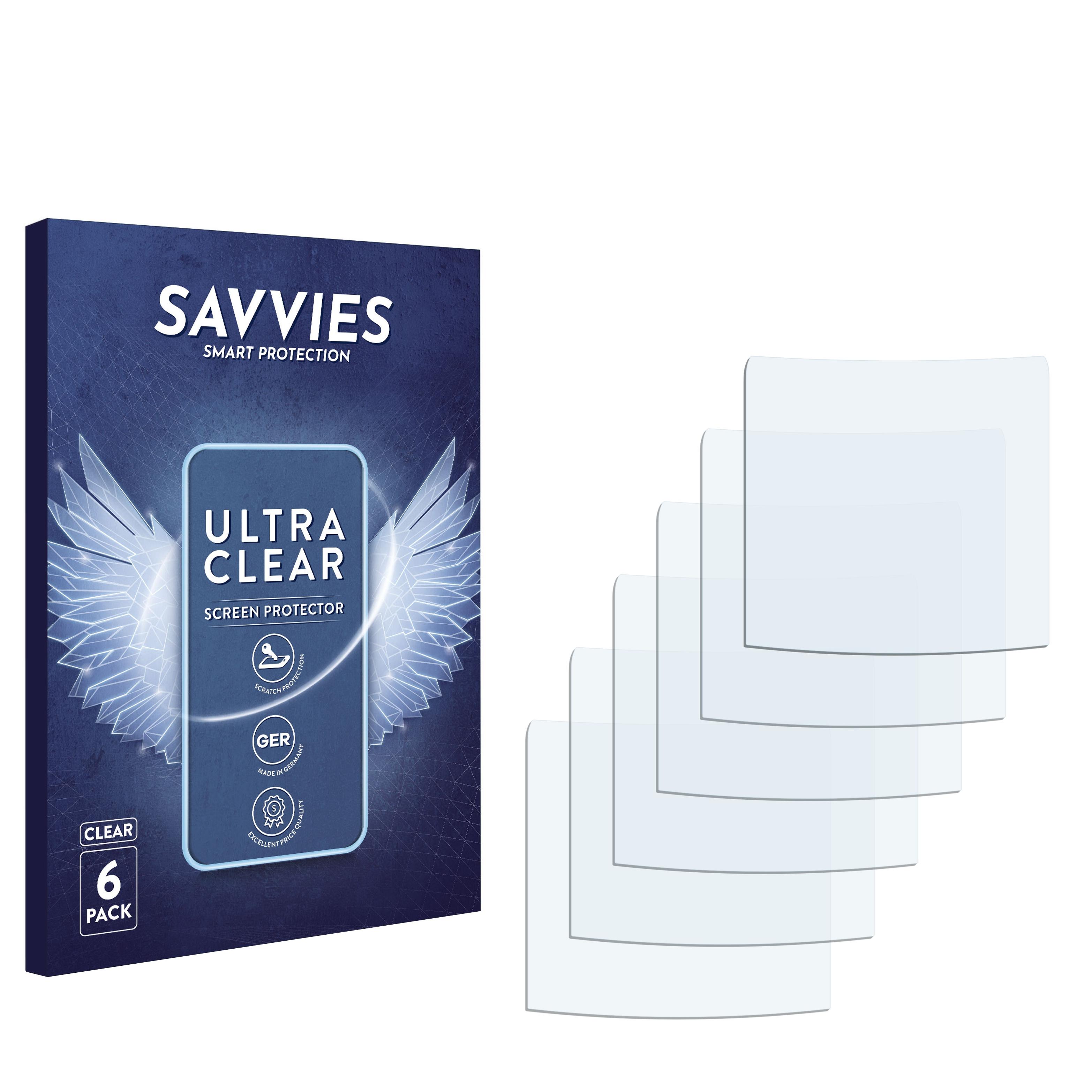 6x Savvies SU75 čirá ochranná fólie pro Alcatel One Touch OT-109