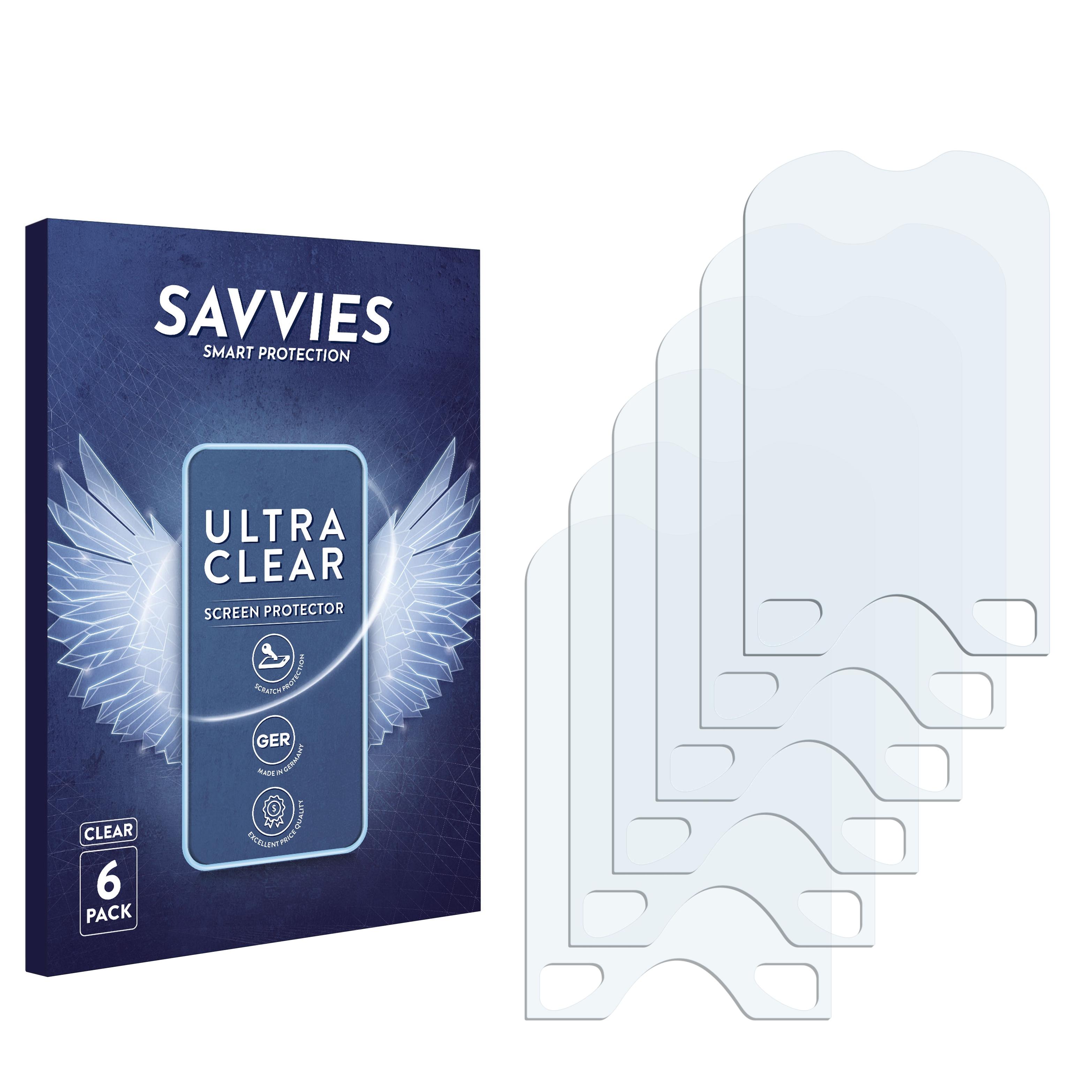 6x Savvies SU75 čirá ochranná fólie pro Alcatel One Touch OT-606