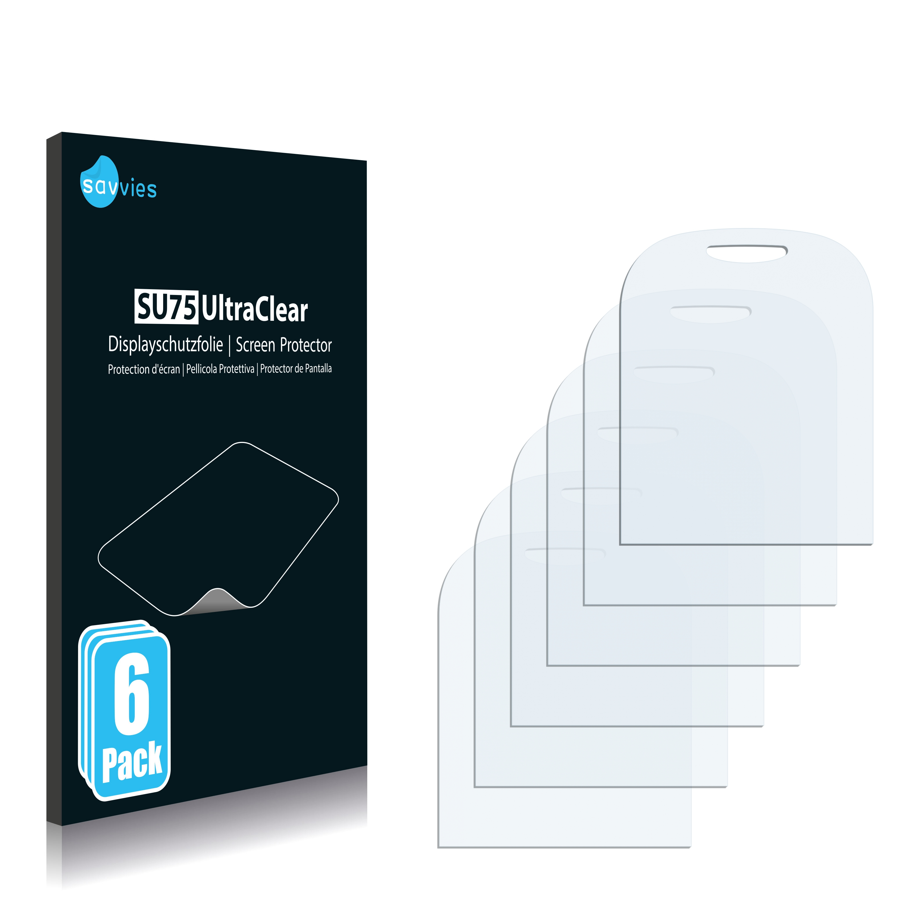 6x Savvies SU75 čirá ochranná fólie pro Alcatel One Touch OT-112