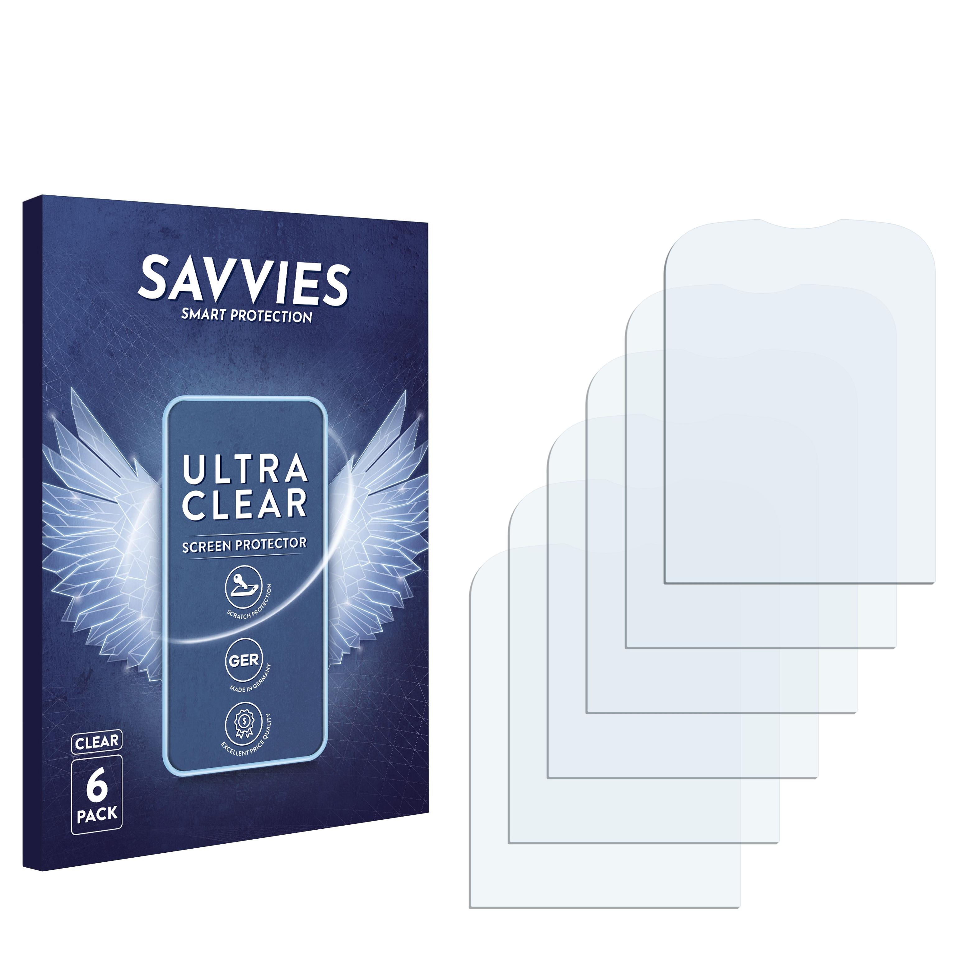 6x Savvies SU75 čirá ochranná fólie pro Alcatel One Touch OT-306