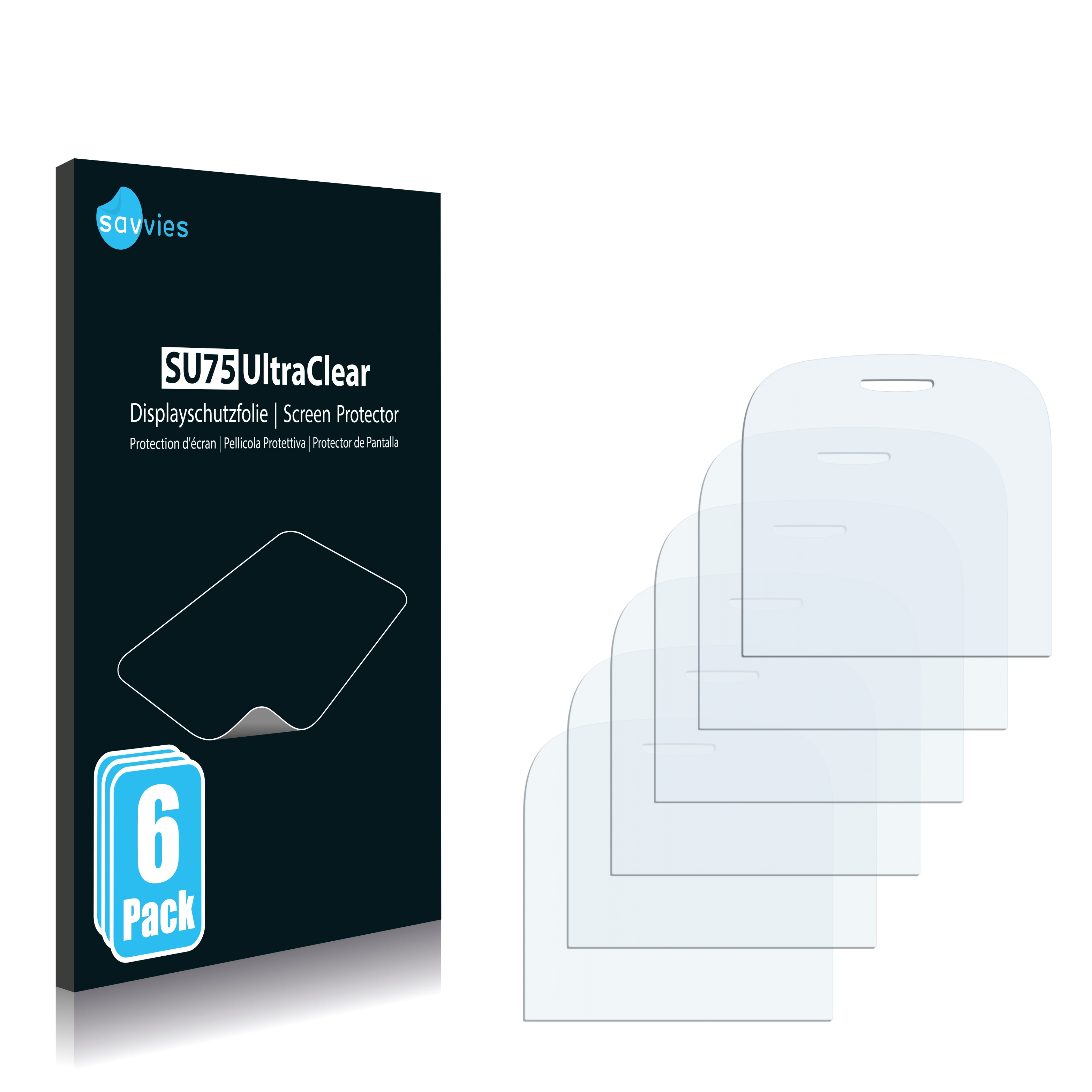 6x Savvies SU75 čirá ochranná fólie pro Alcatel One Touch OT-585