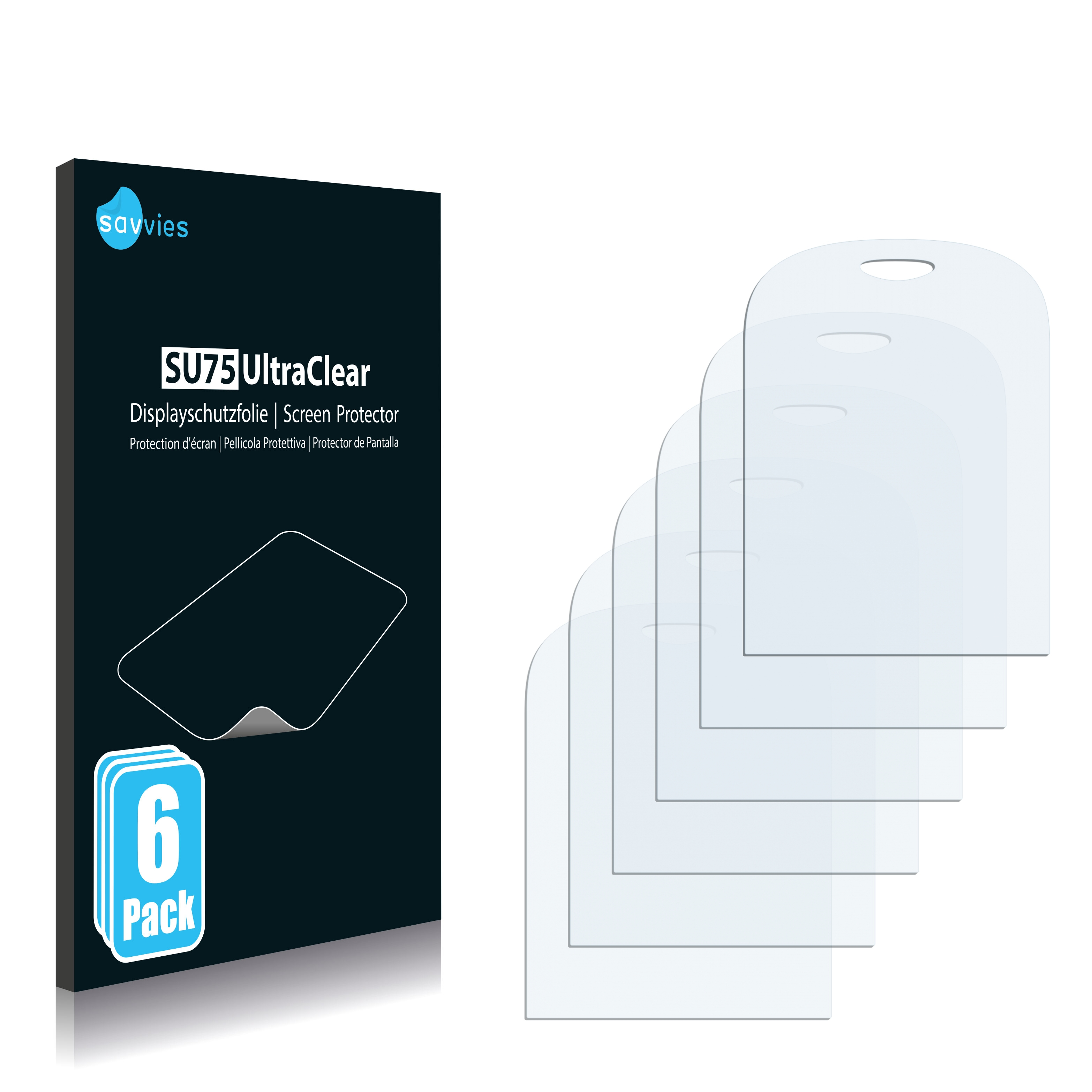 6x Savvies SU75 čirá ochranná fólie pro Alcatel One Touch OT-690