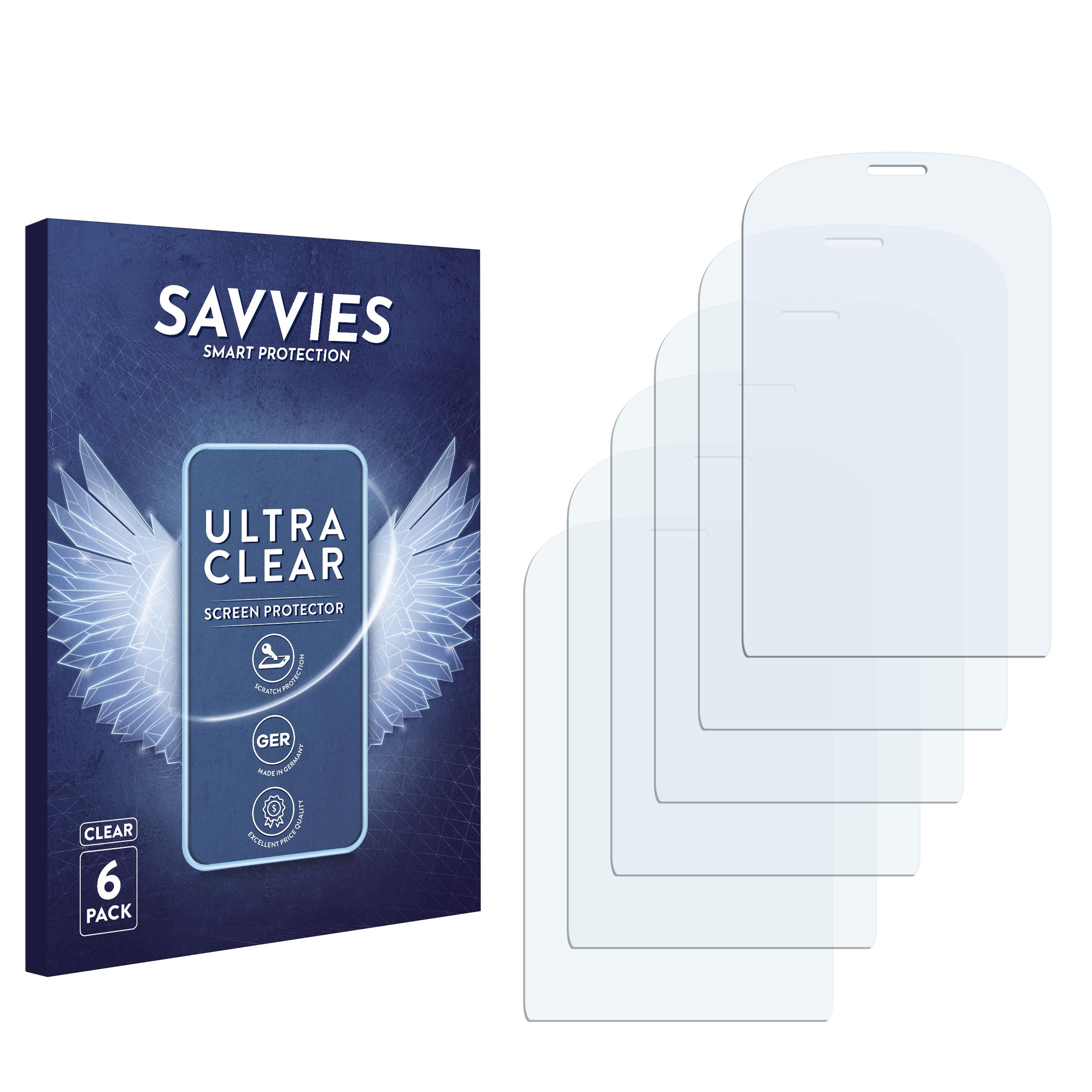 6x Savvies SU75 čirá ochranná fólie pro Alcatel One Touch OT-907N
