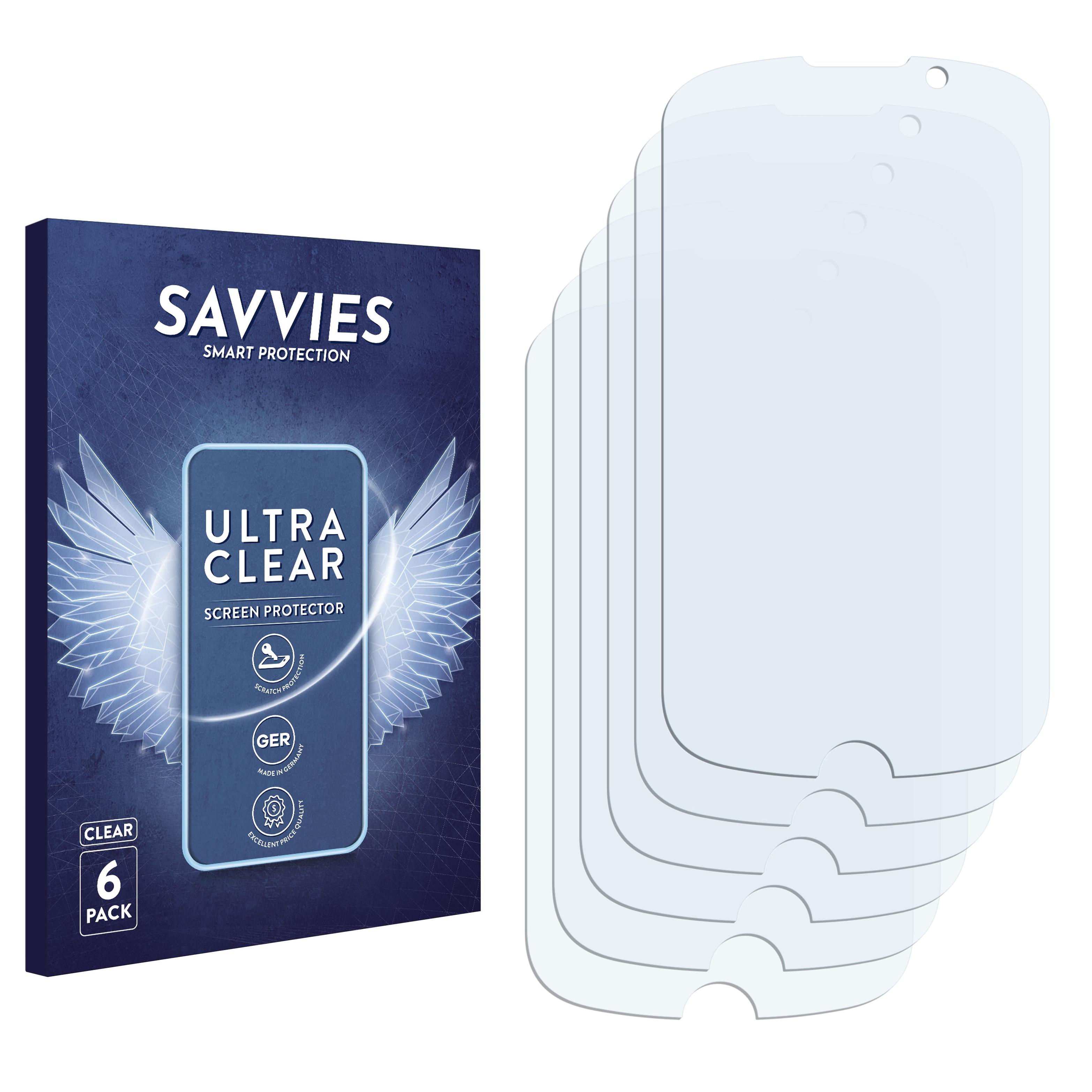 6x Savvies SU75 čirá ochranná fólie pro Alcatel One Touch OT-913(D)