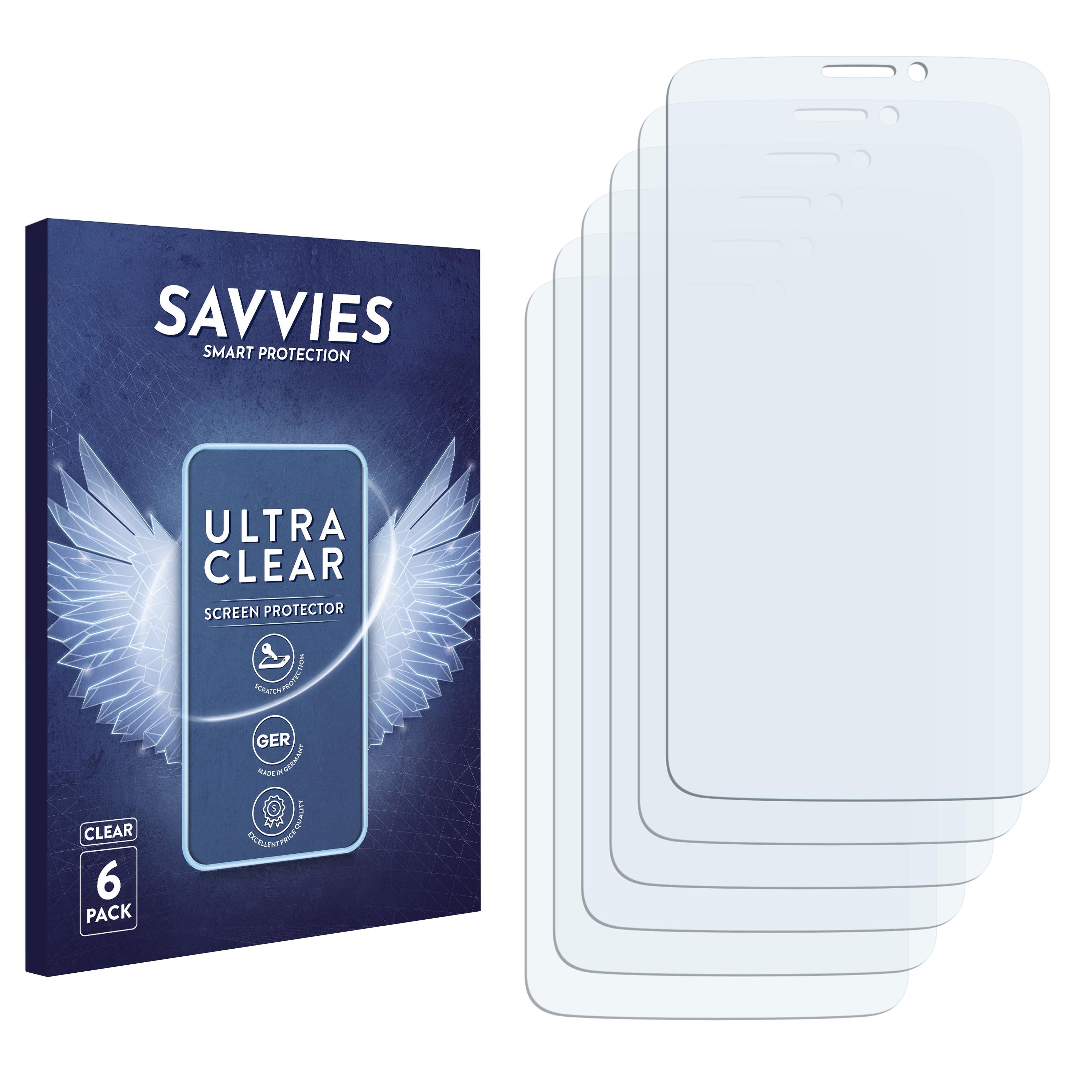 6x Savvies SU75 čirá ochranná fólie pro Alcatel One Touch Hero