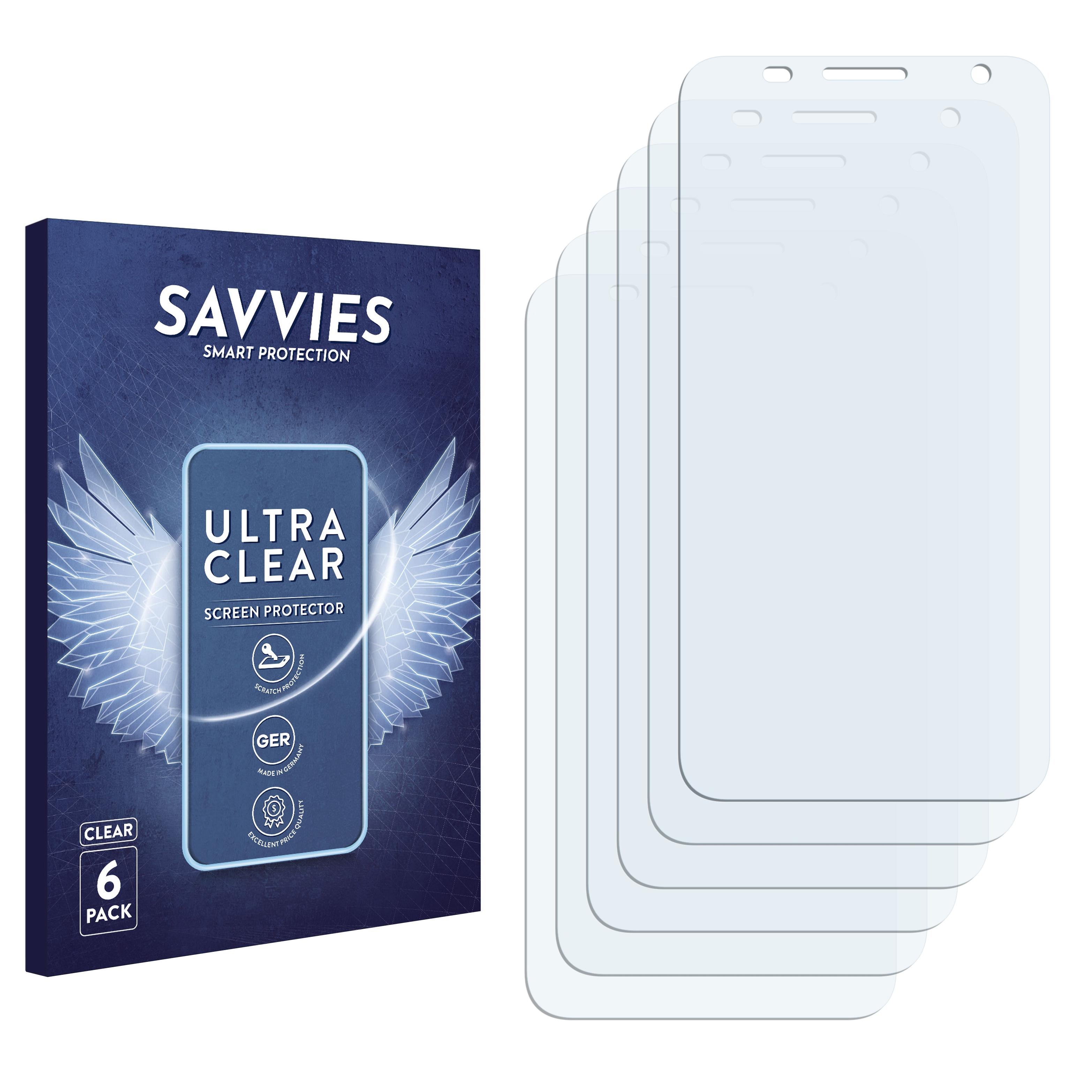6x Savvies SU75 čirá ochranná fólie pro Alcatel One Touch Flash 6042D