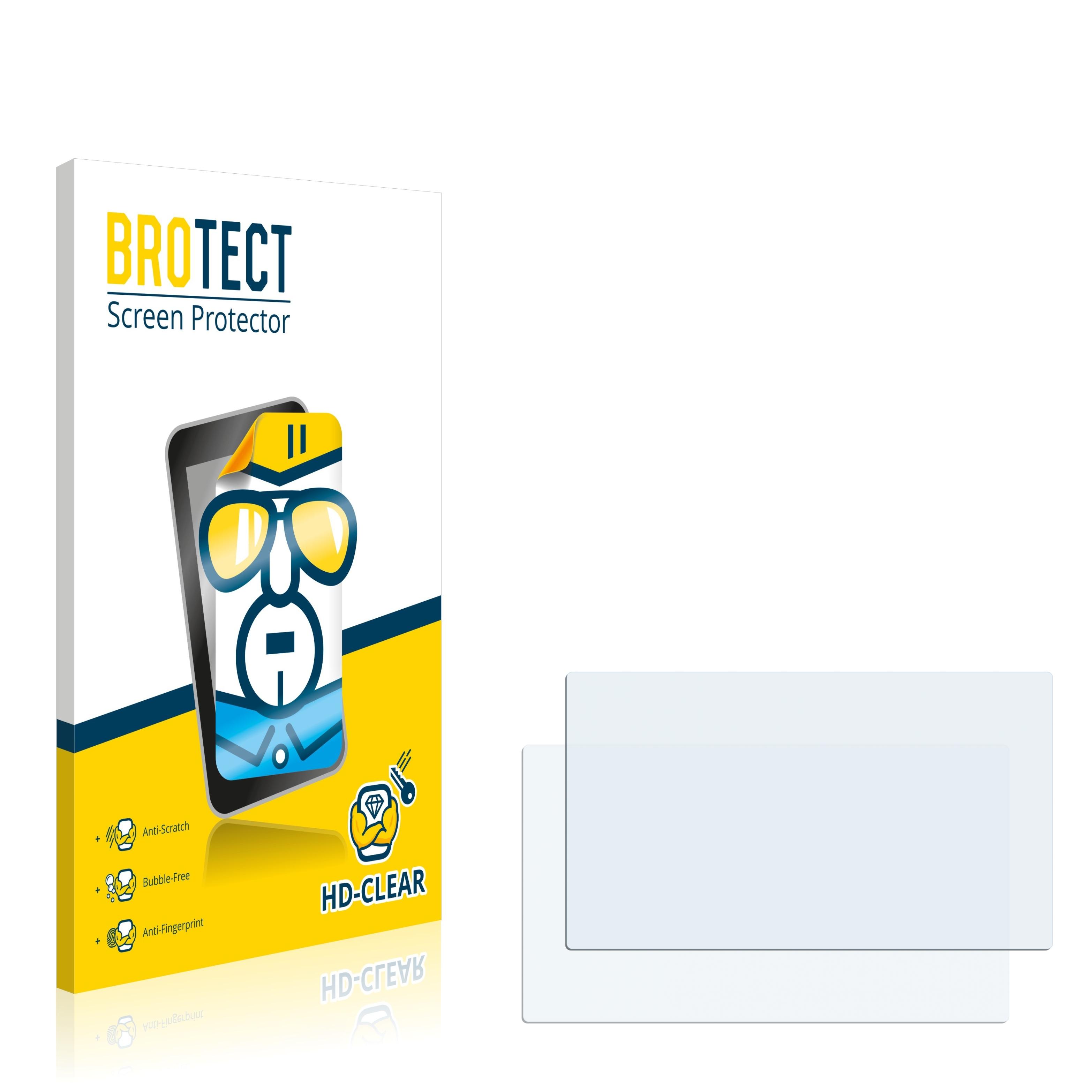 2x BROTECT HD-Clear čirá ochranná fólie pro A-Rival NAV-PNT 43 EU