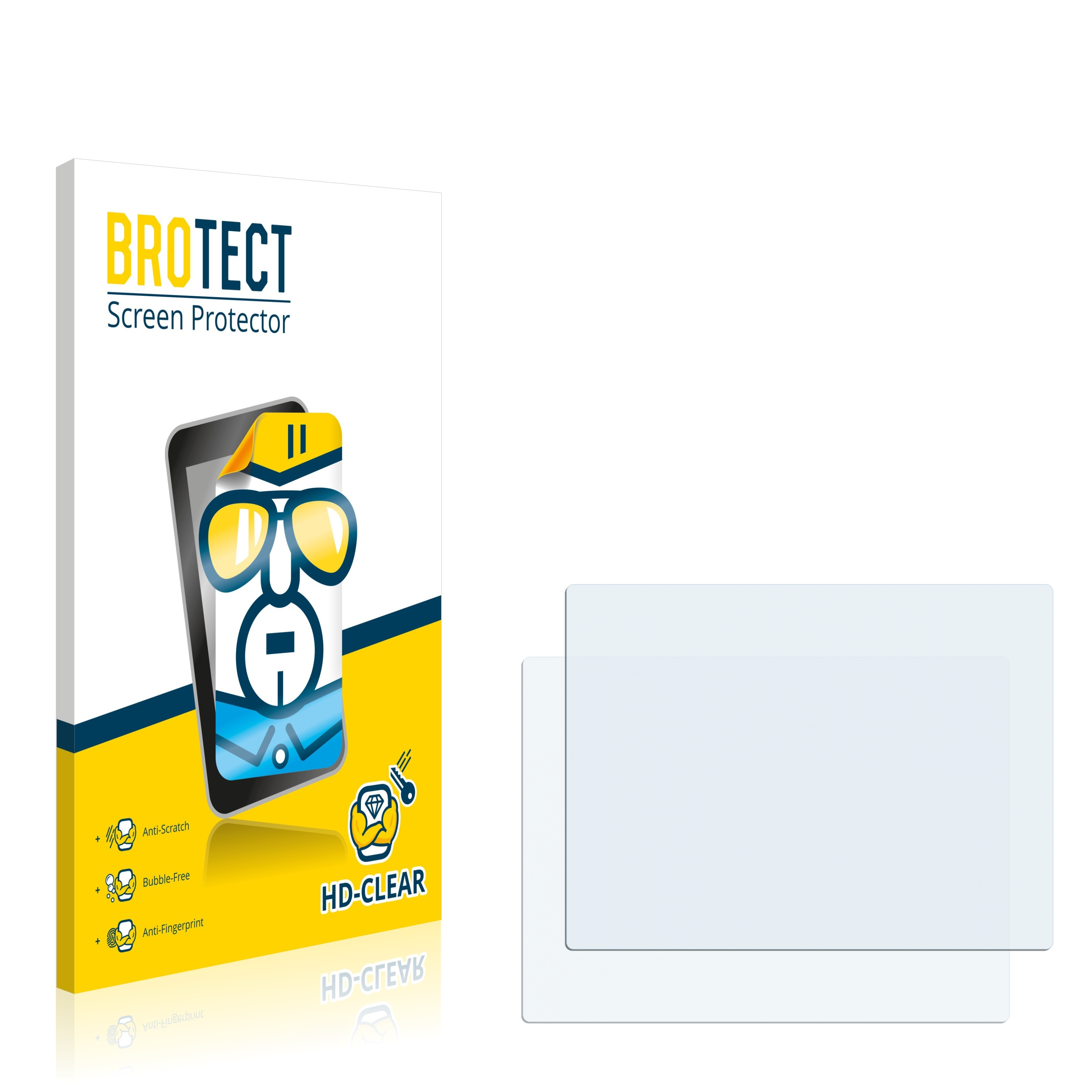 2x BROTECT HD-Clear čirá ochranná fólie pro A-Rival aQtion Cam