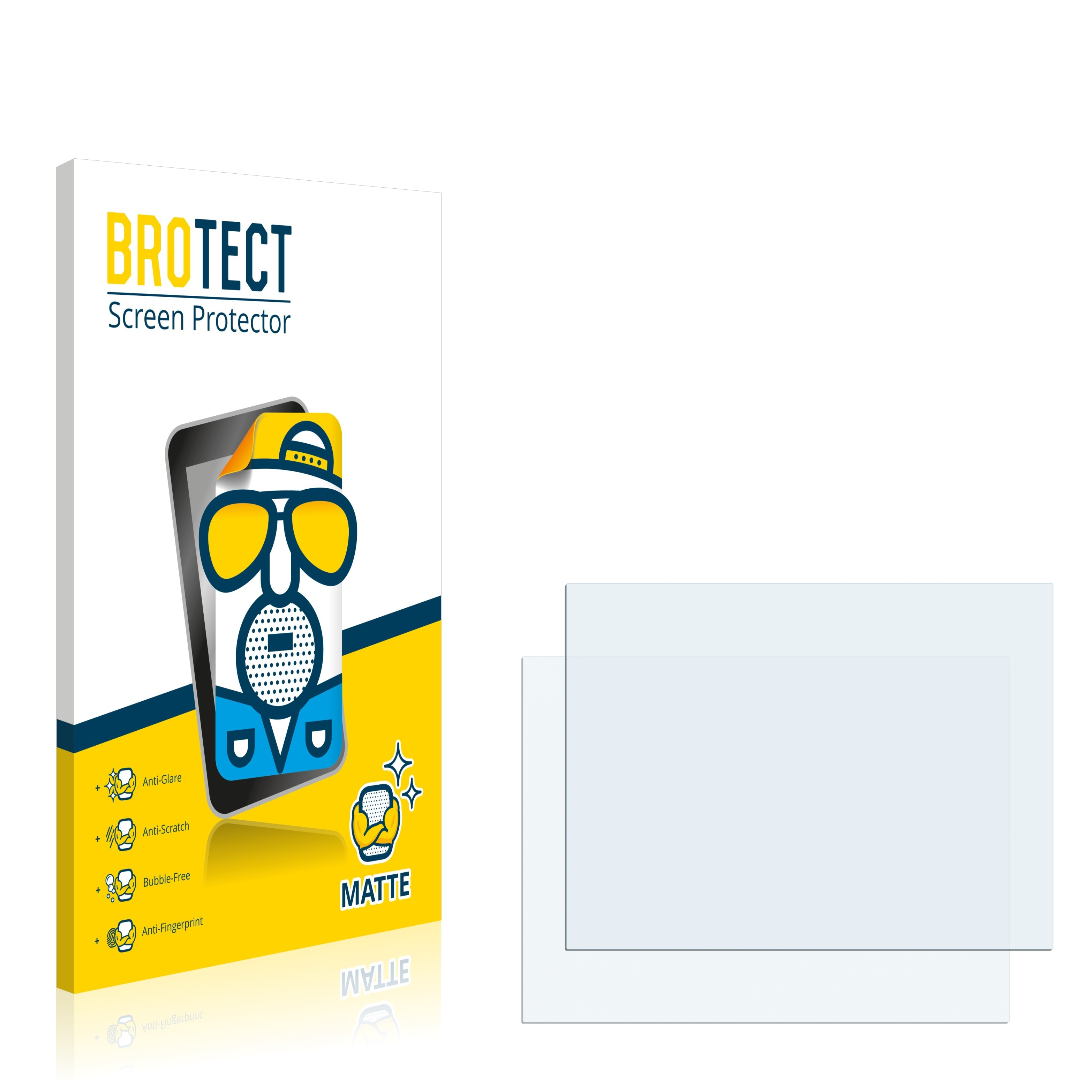 2x BROTECT matná ochranná fólie pro ABB Robotic IRC5 M2004 - antireflexní