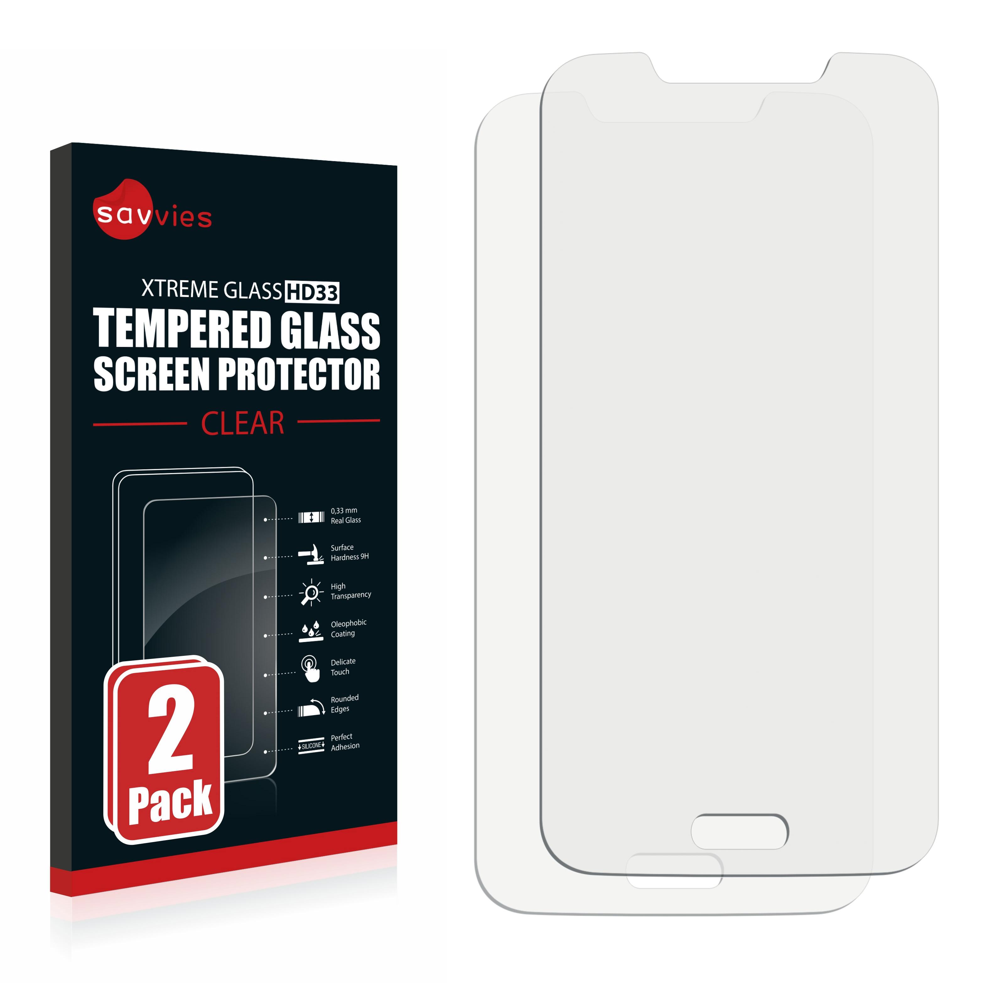 2x Savvies HD33 tvrzené ochranné sklo pro Samsung Galaxy S5 Duos SM-G9009D