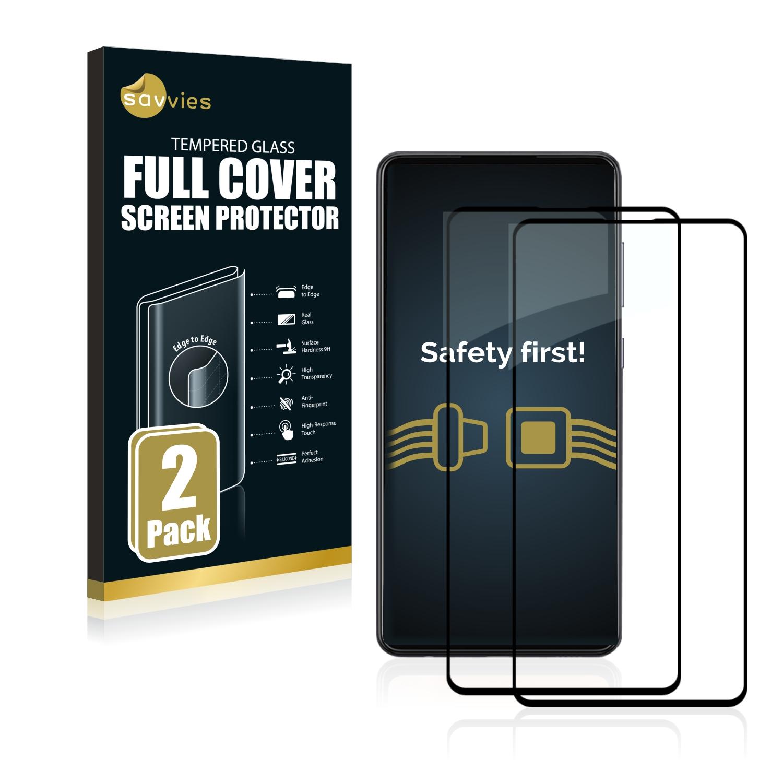2x Savvies Xtreme Glass 2.5D Full Cover 3D tvrzené sklo pro Samsung Galaxy A72 5G (černý)