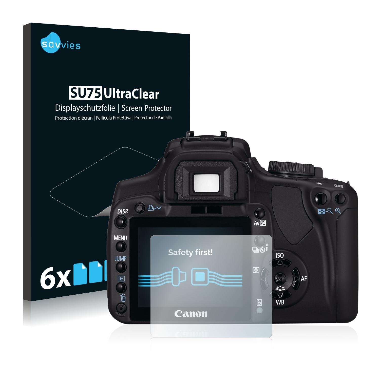 6x Savvies SU75 čirá ochranná fólie pro Canon EOS 400D