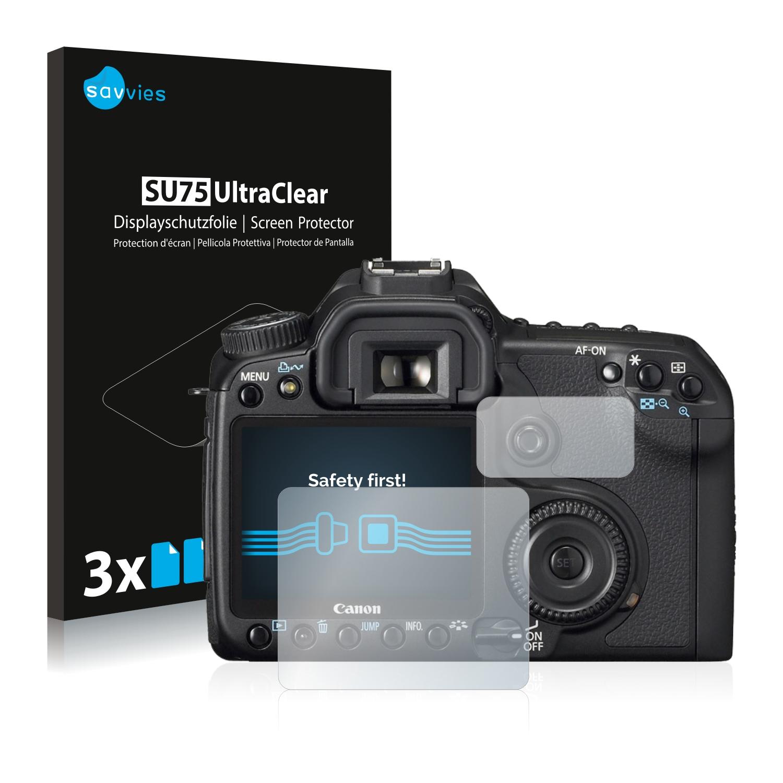 6x Savvies SU75 čirá ochranná fólie pro Canon EOS 40D