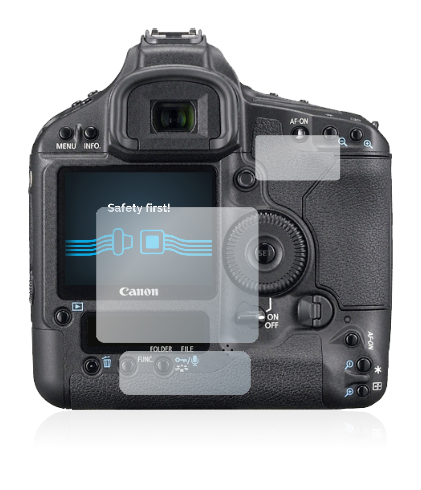 6x Savvies SU75 čirá ochranná fólie pro Canon EOS 1Ds Mark III