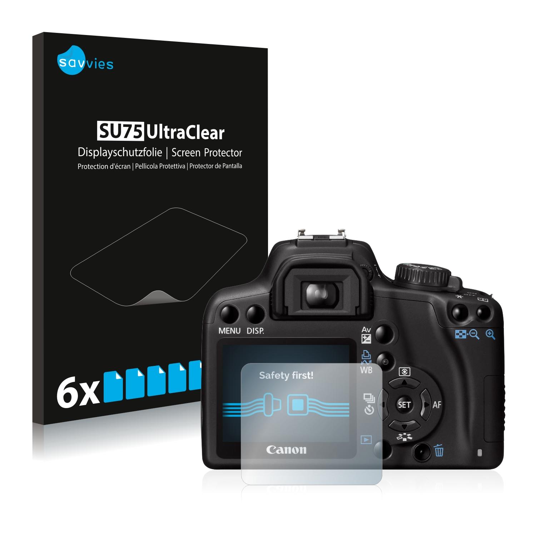 6x Savvies SU75 čirá ochranná fólie pro Canon EOS 1000D