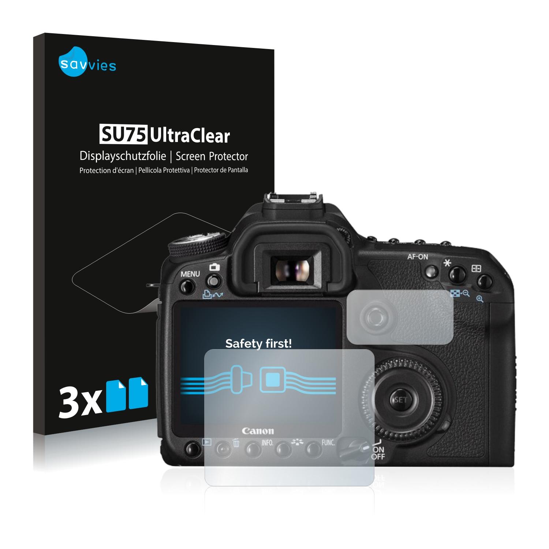 6x Savvies SU75 čirá ochranná fólie pro Canon EOS 50D
