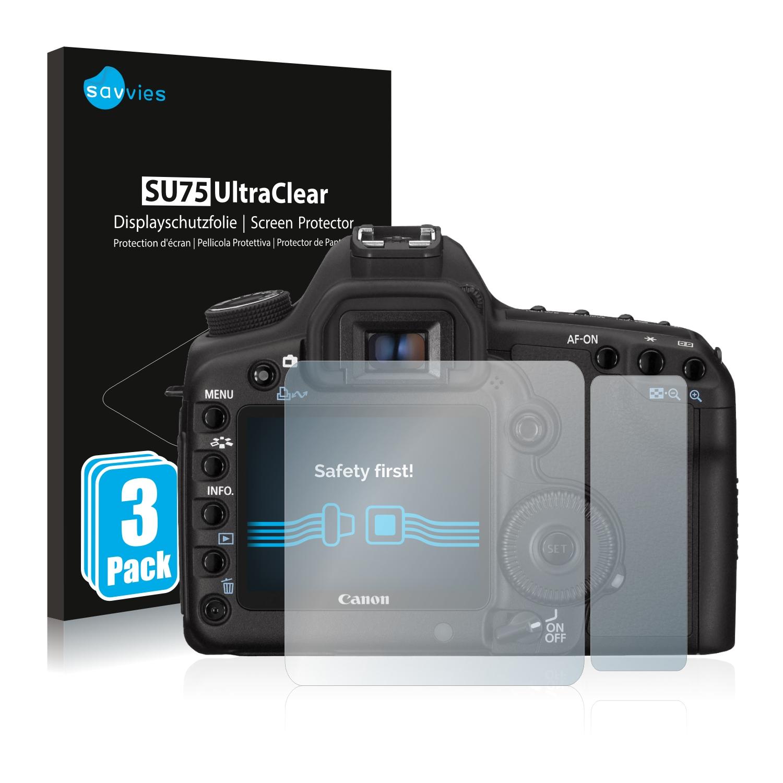 6x Savvies SU75 čirá ochranná fólie pro Canon EOS 5D Mark II