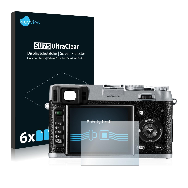 6x Savvies SU75 čirá ochranná fólie pro Fujifilm FinePix X100