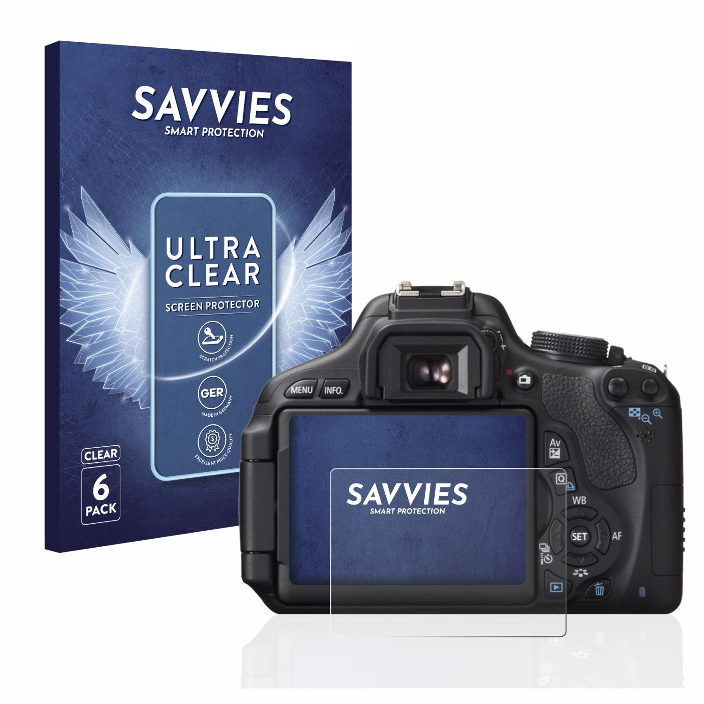 6x Savvies SU75 čirá ochranná fólie pro Canon EOS 600D