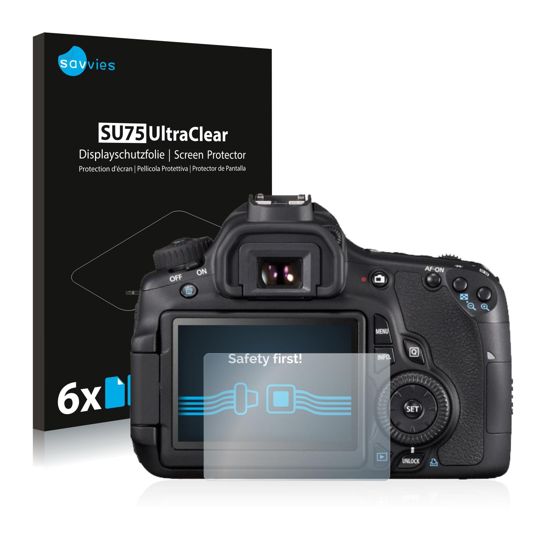 6x Savvies SU75 čirá ochranná fólie pro Canon EOS 650D