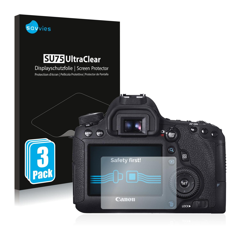 6x Savvies SU75 čirá ochranná fólie pro Canon EOS 6D