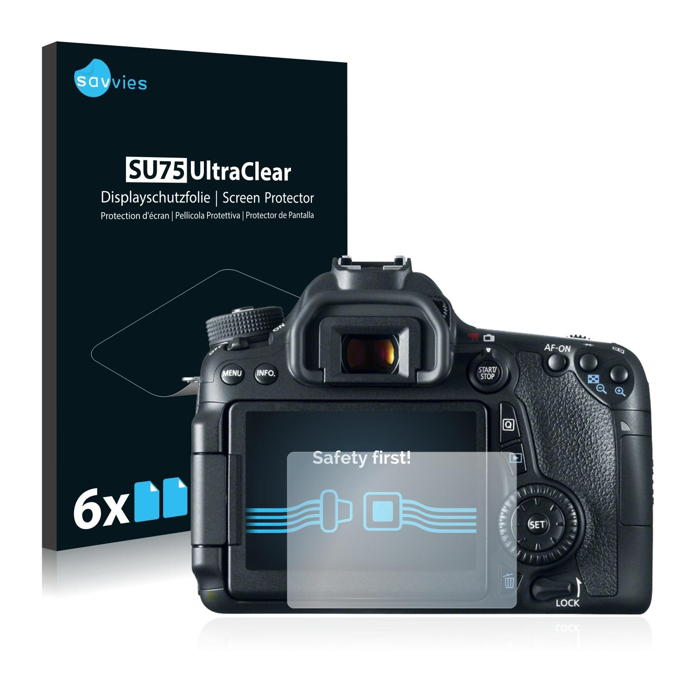 6x Savvies SU75 čirá ochranná fólie pro Canon EOS 70D
