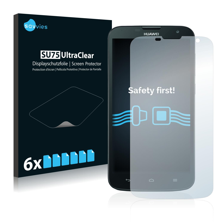 6x Savvies SU75 čirá ochranná fólie pro Huawei Ascend G730