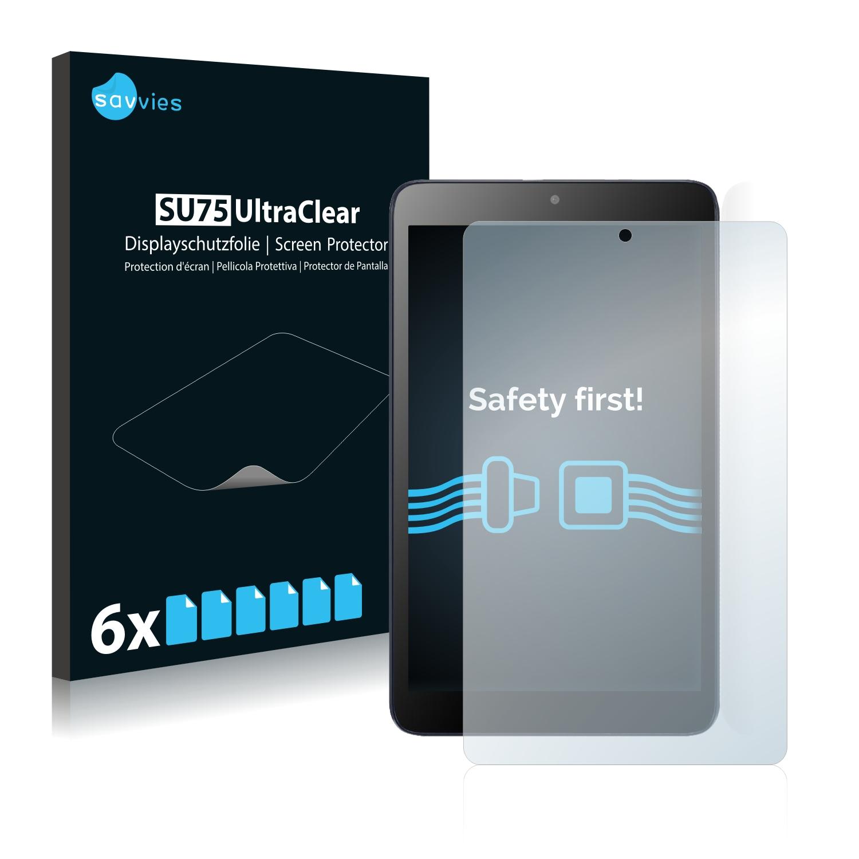 6x Savvies SU75 čirá ochranná fólie pro Alcatel Pixi 3 (8.0)