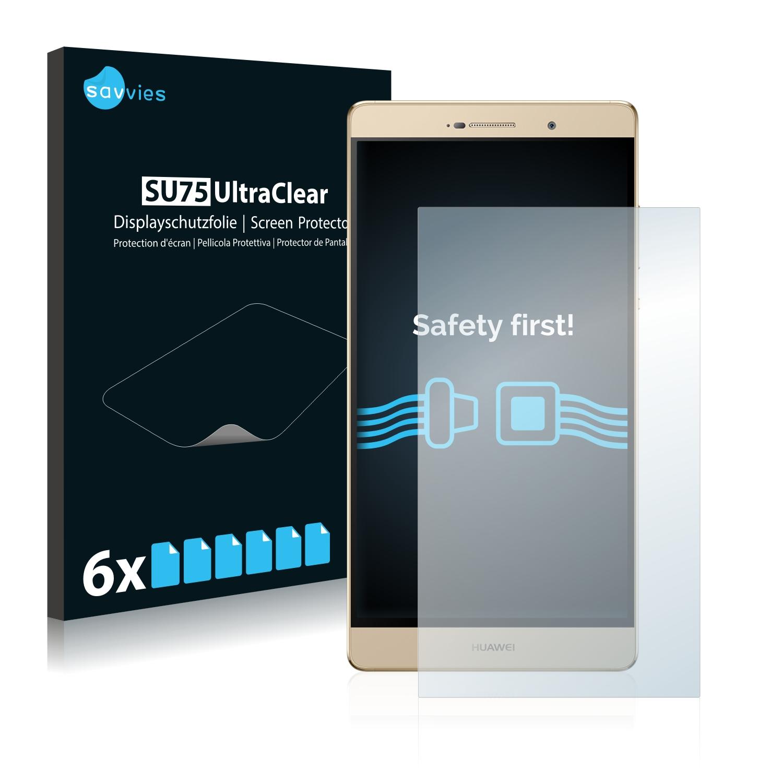6x Savvies SU75 čirá ochranná fólie pro Huawei P8 Max