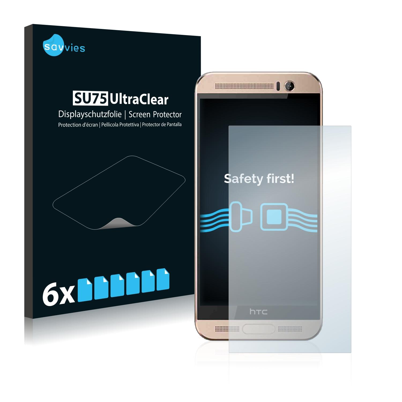 6x Savvies SU75 čirá ochranná fólie pro HTC One ME