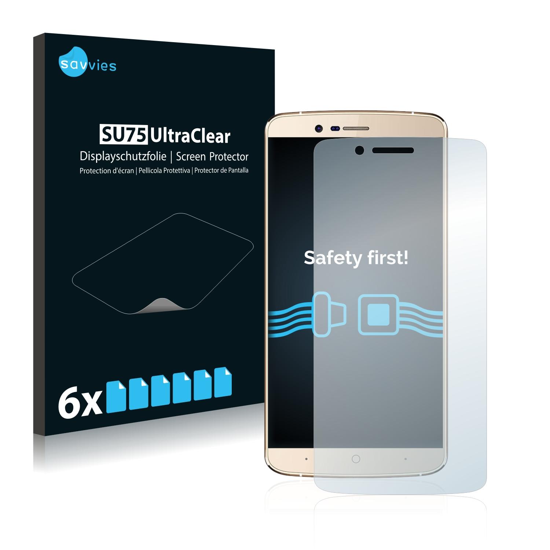 6x Savvies SU75 čirá ochranná fólie pro Elephone P8000