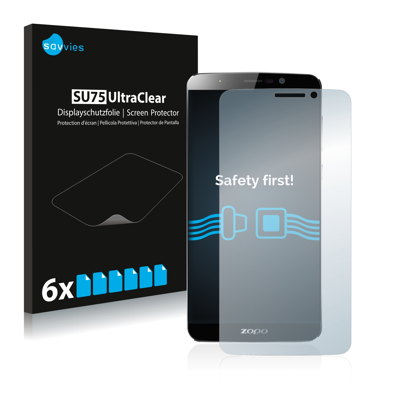 6x Savvies SU75 čirá ochranná fólie pro Zopo Speed 7 Plus