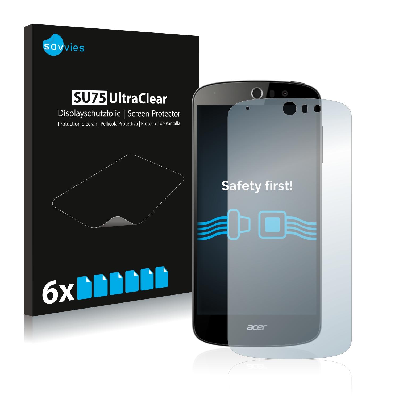 6x Savvies SU75 čirá ochranná fólie pro Acer Liquid Z530