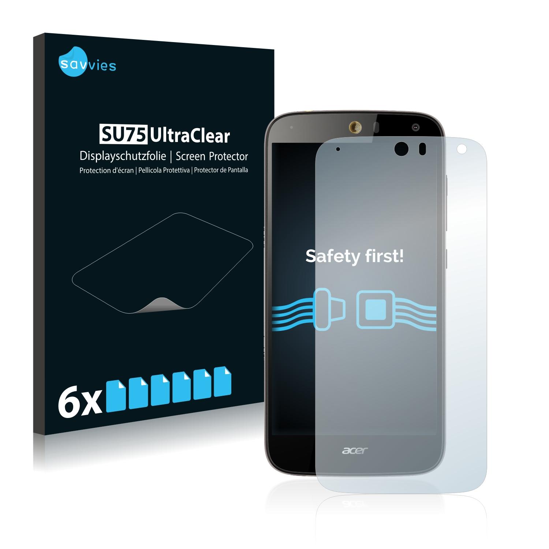 6x Savvies SU75 čirá ochranná fólie pro Acer Liquid Z630