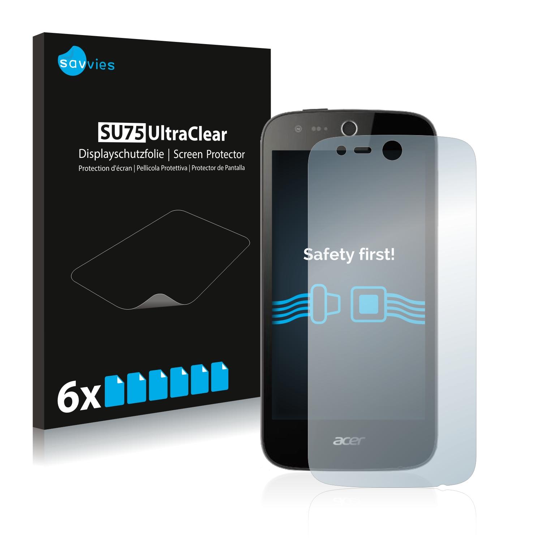 6x Savvies SU75 čirá ochranná fólie pro Acer Liquid Z320