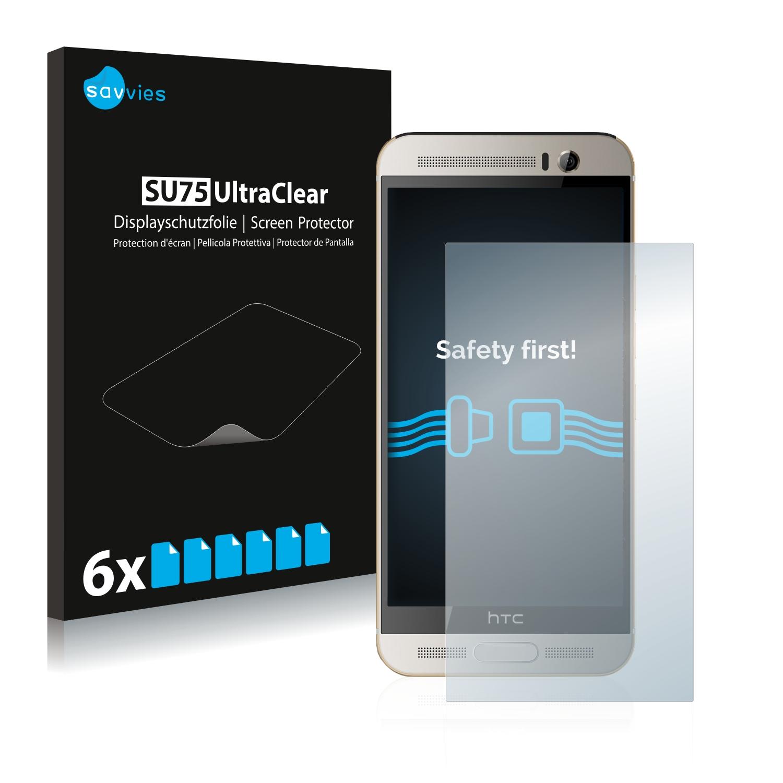 6x Savvies SU75 čirá ochranná fólie pro HTC One M9+