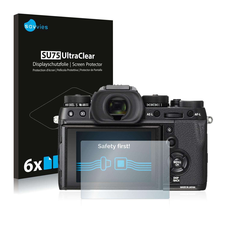 6x Savvies SU75 čirá ochranná fólie pro Fujifilm X-T2