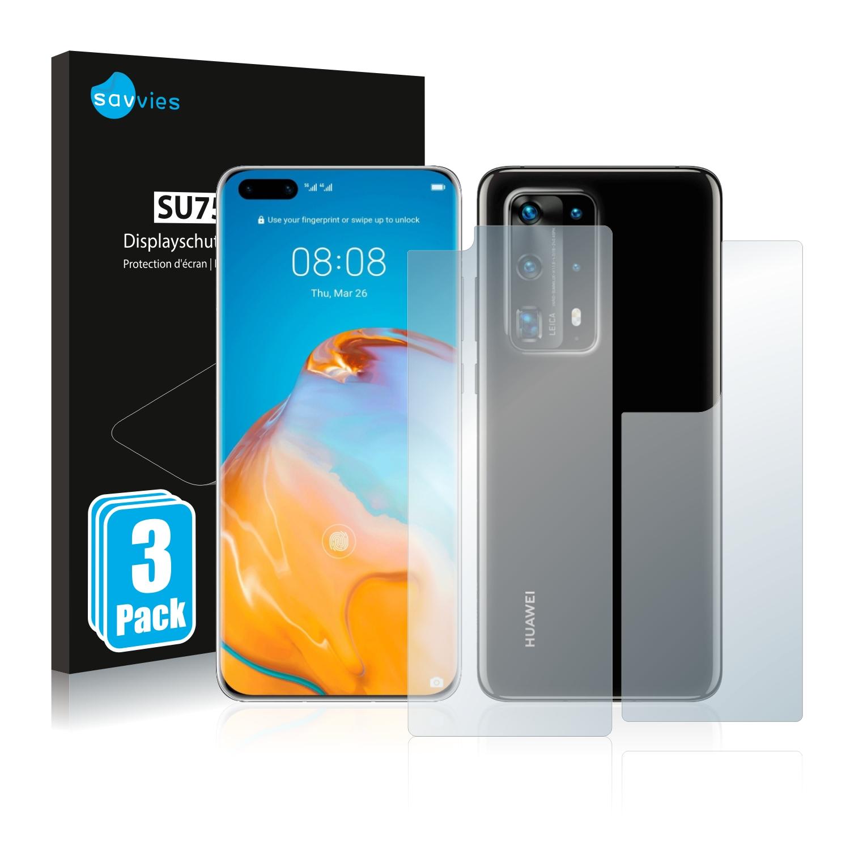 Ochranná fólie Savvies na Huawei P40 Pro Plus (Přední + Zadní), 6ks