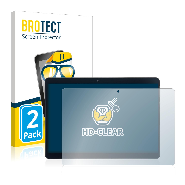 2x BROTECT HD-Clear čirá ochranná fólie pro Acepad A121 10.1