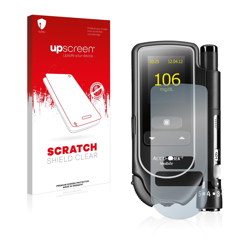 Čirá ochranná fólie upscreen® Scratch Shield pro Accu-Chek Mobile