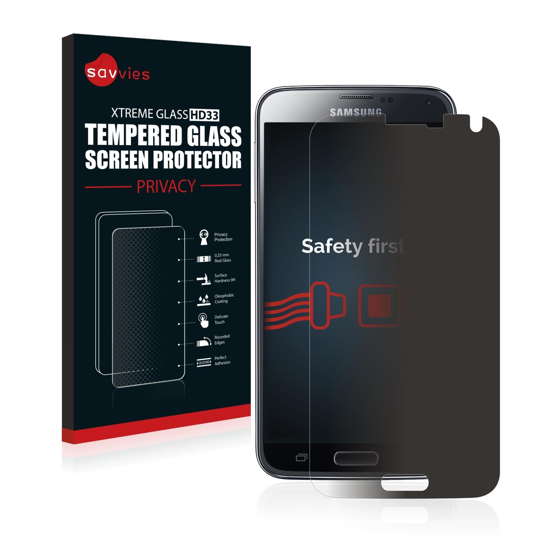 Savvies HD33 privátní tvrzené sklo pro Samsung Galaxy S5 SM-G900I SM-G900F