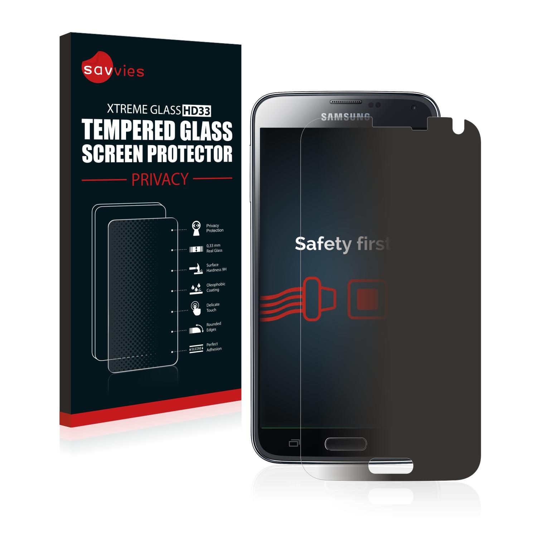 Savvies HD33 privátní tvrzené sklo pro Samsung Galaxy S5 Plus