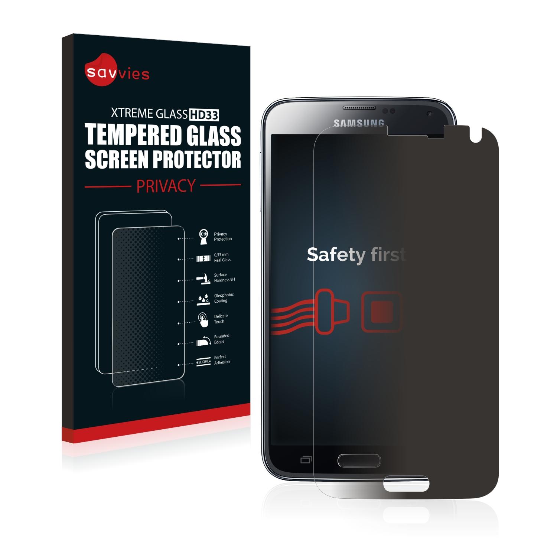 Savvies HD33 privátní tvrzené sklo pro Samsung Galaxy S5 Neo