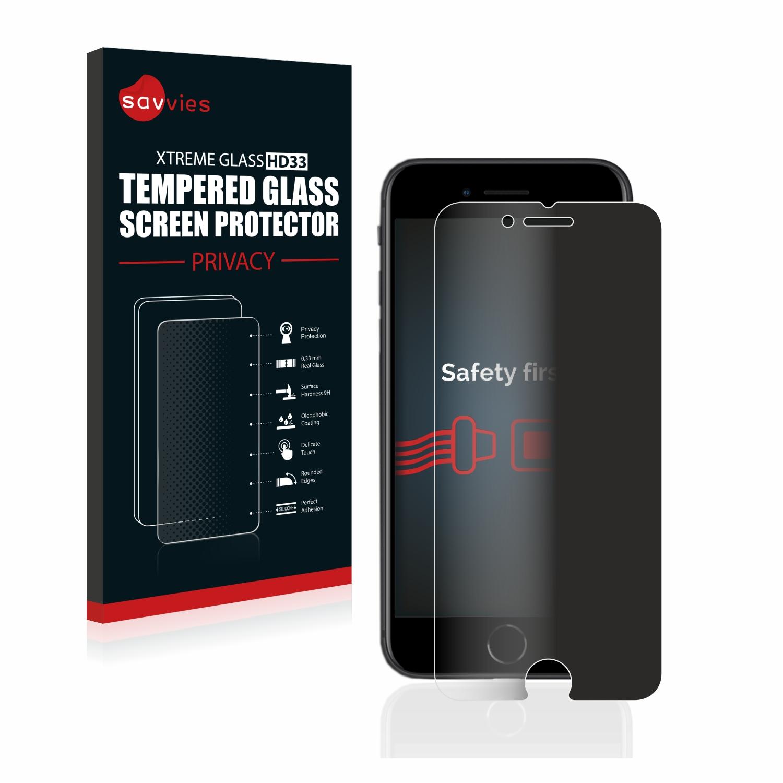 Savvies HD33 privátní tvrzené sklo pro Apple iPhone SE 2 2020