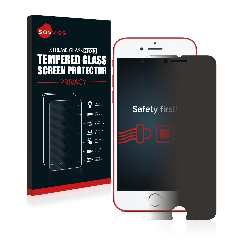 Savvies HD33 privátní tvrzené sklo pro Apple iPhone 7 Red