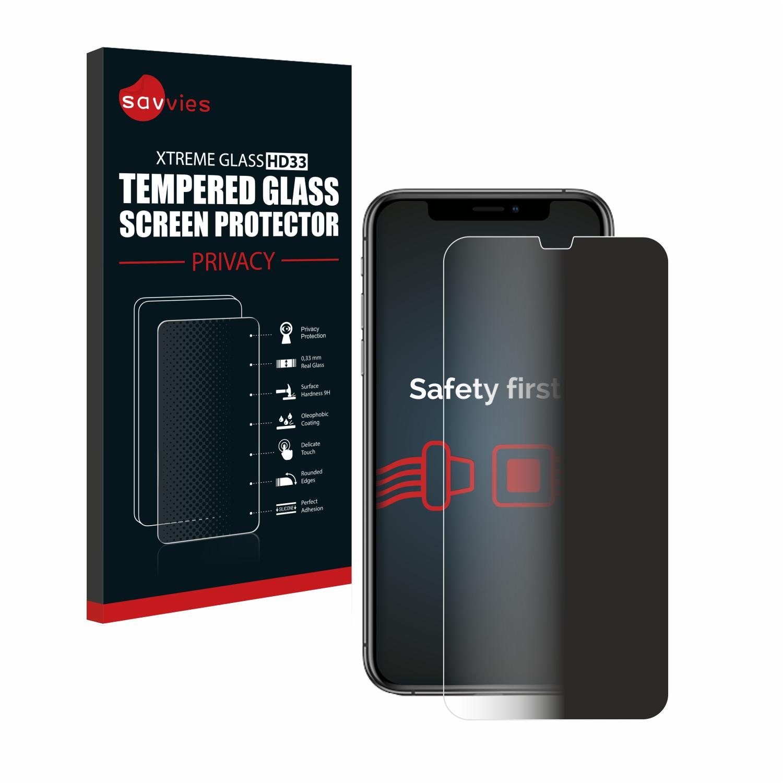 Savvies HD33 privátní tvrzené sklo pro Apple iPhone Xs