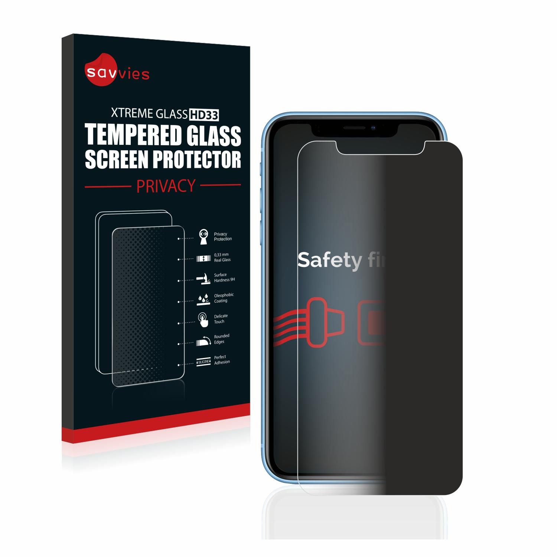 Savvies HD33 privátní tvrzené sklo pro Apple iPhone XR