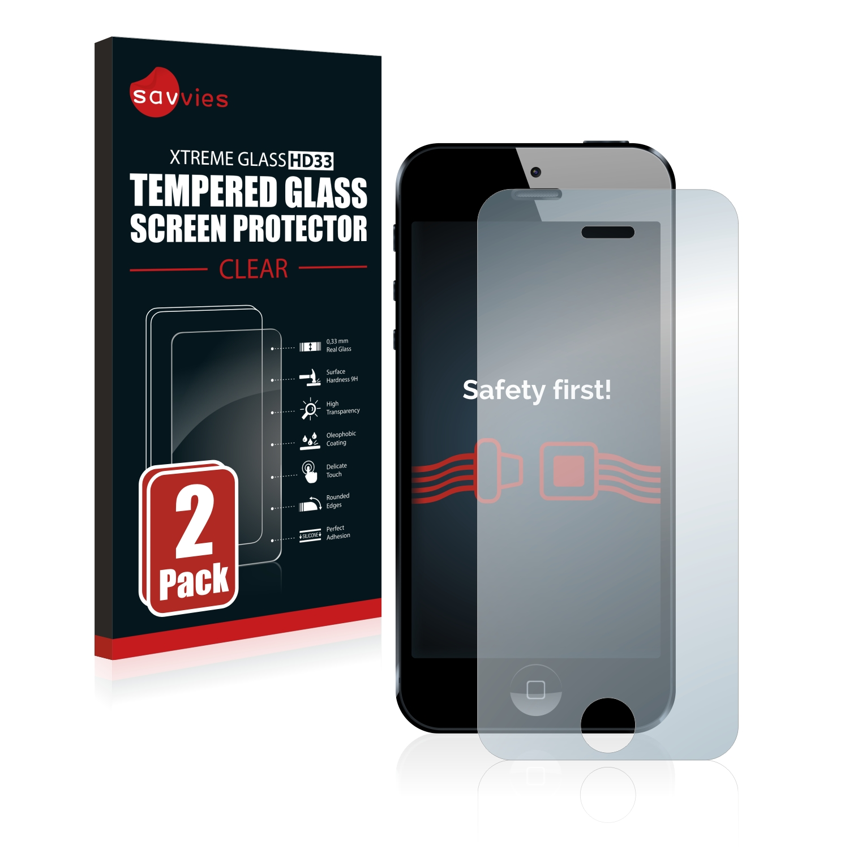 2x Savvies HD33 tvrzené ochranné sklo pro Apple iPhone 5
